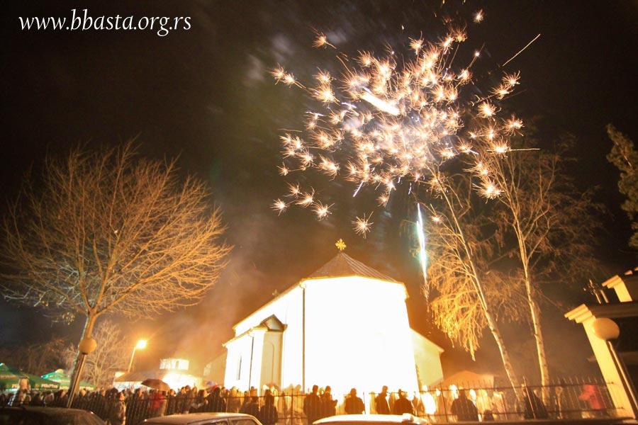 Badnje veče u porti crke Svetog proroka Ilije