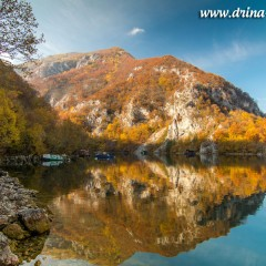 Jezero Perućac u novembru (FOTO)